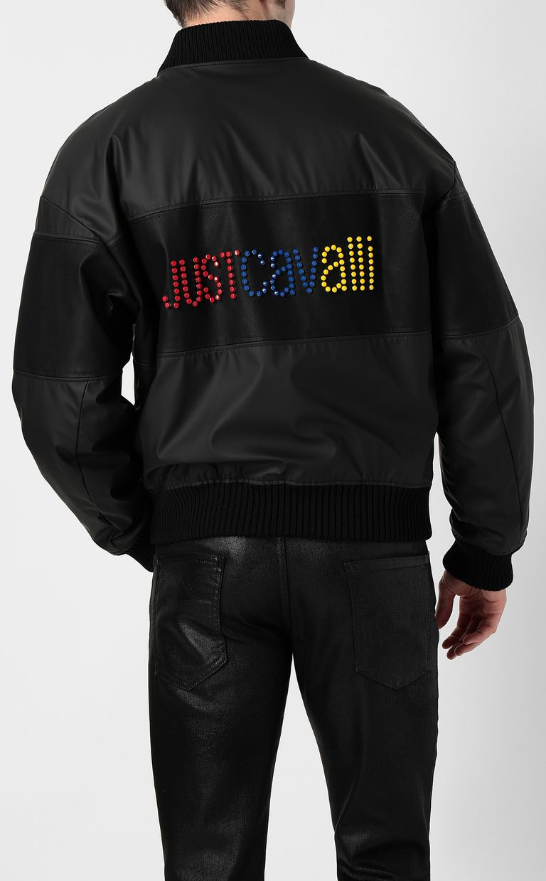 JUST CAVALLI Multicoloured-logo bomber jacket Jacket Man a