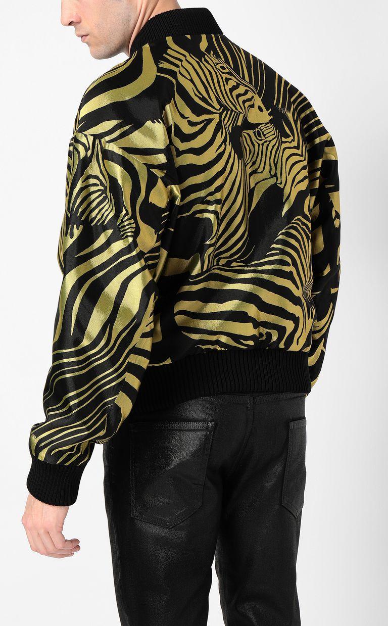 JUST CAVALLI Zebra-stripe bomber jacket Jacket Man a