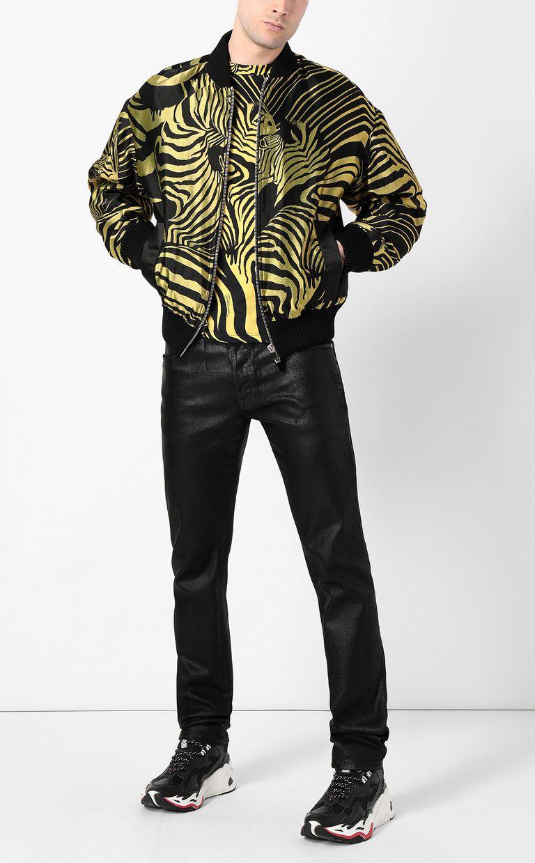 JUST CAVALLI Zebra-stripe bomber jacket Jacket Man d