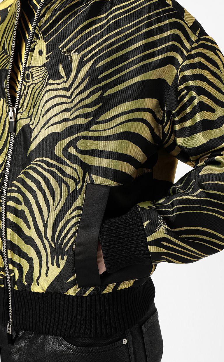 JUST CAVALLI Zebra-stripe bomber jacket Jacket Man e