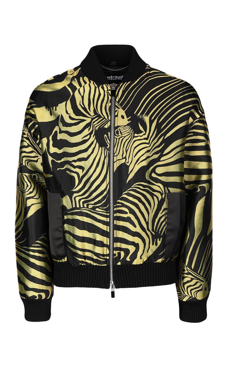 JUST CAVALLI Zebra-stripe bomber jacket Jacket Man f
