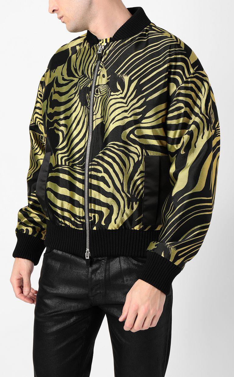 JUST CAVALLI Zebra-stripe bomber jacket Jacket Man r