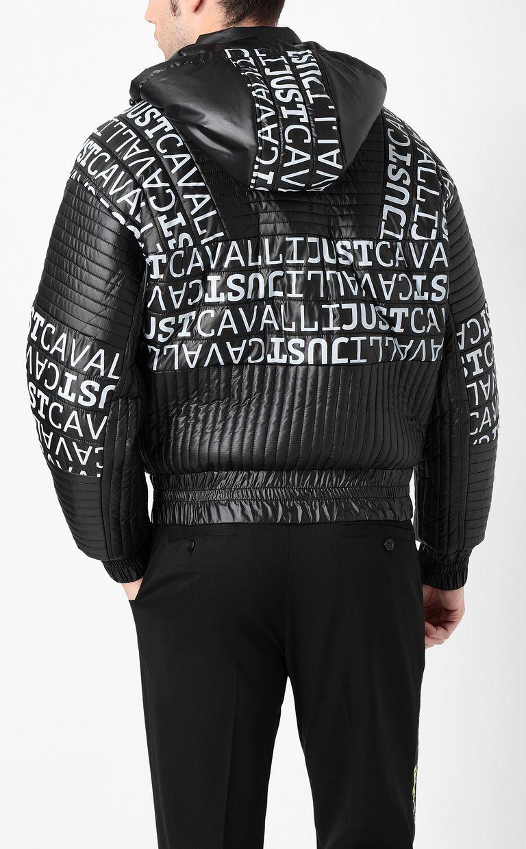 JUST CAVALLI Logomania bomber jacket Blazer Man a
