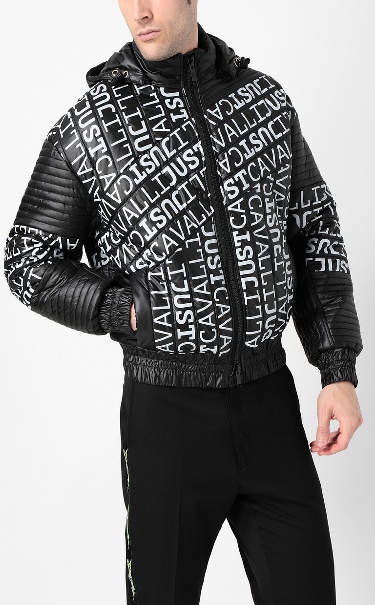 JUST CAVALLI Logomania bomber jacket Blazer Man r