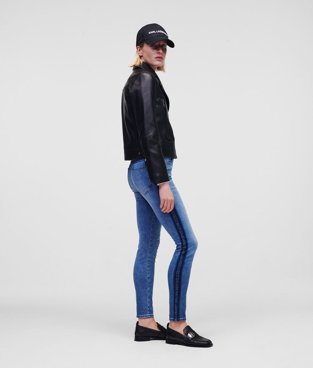 KARL LAGERFELD Leather Biker Jacket Jacket Woman d