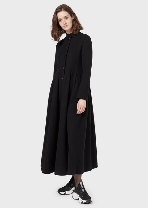 Long coat in cashmere and wool cloth