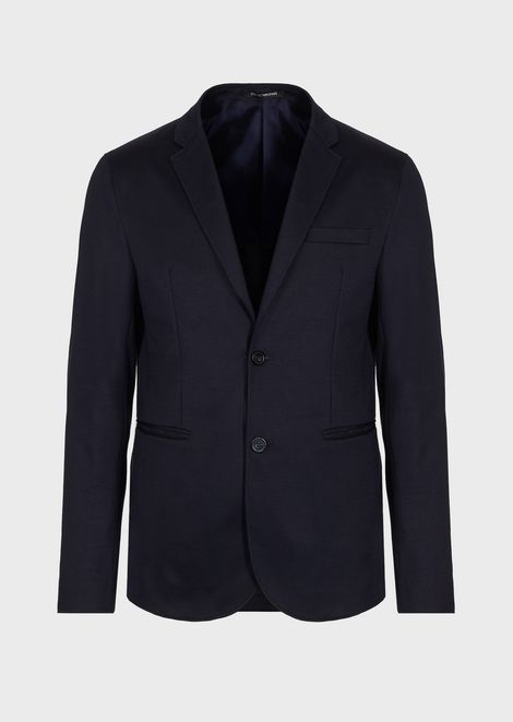 Single-breasted jacket in Milano fabric