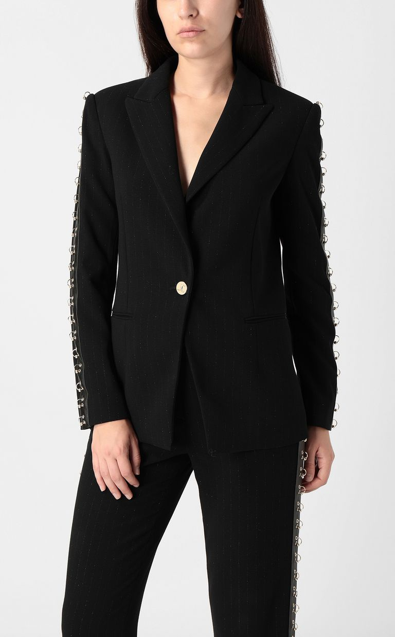 JUST CAVALLI Jacket with pierced details Blazer Woman r