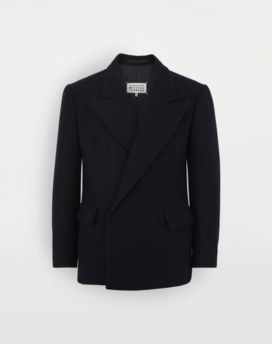 COATS & JACKETS Fitted wool coat Blue