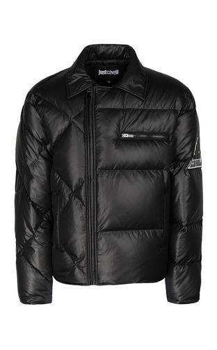 JUST CAVALLI Down jacket Man Jacket with side zip closure f