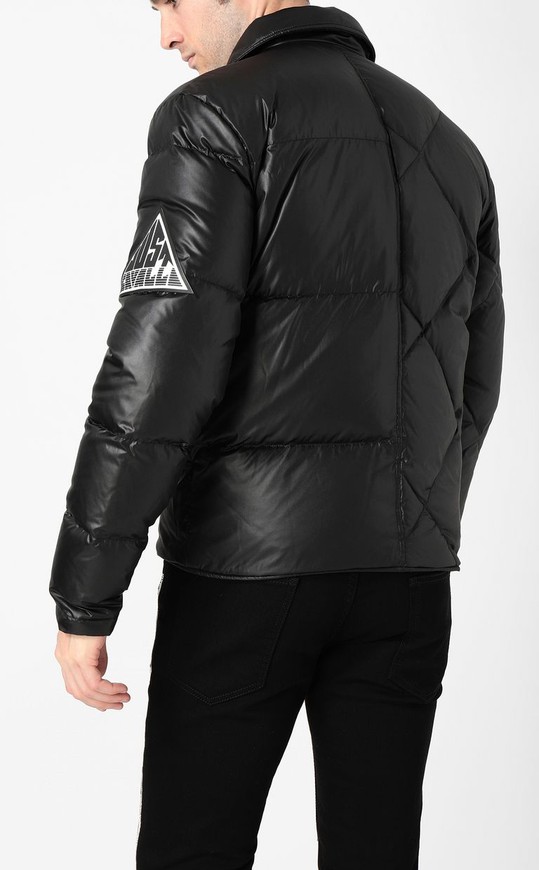 JUST CAVALLI Jacket with side zip closure Down jacket Man a