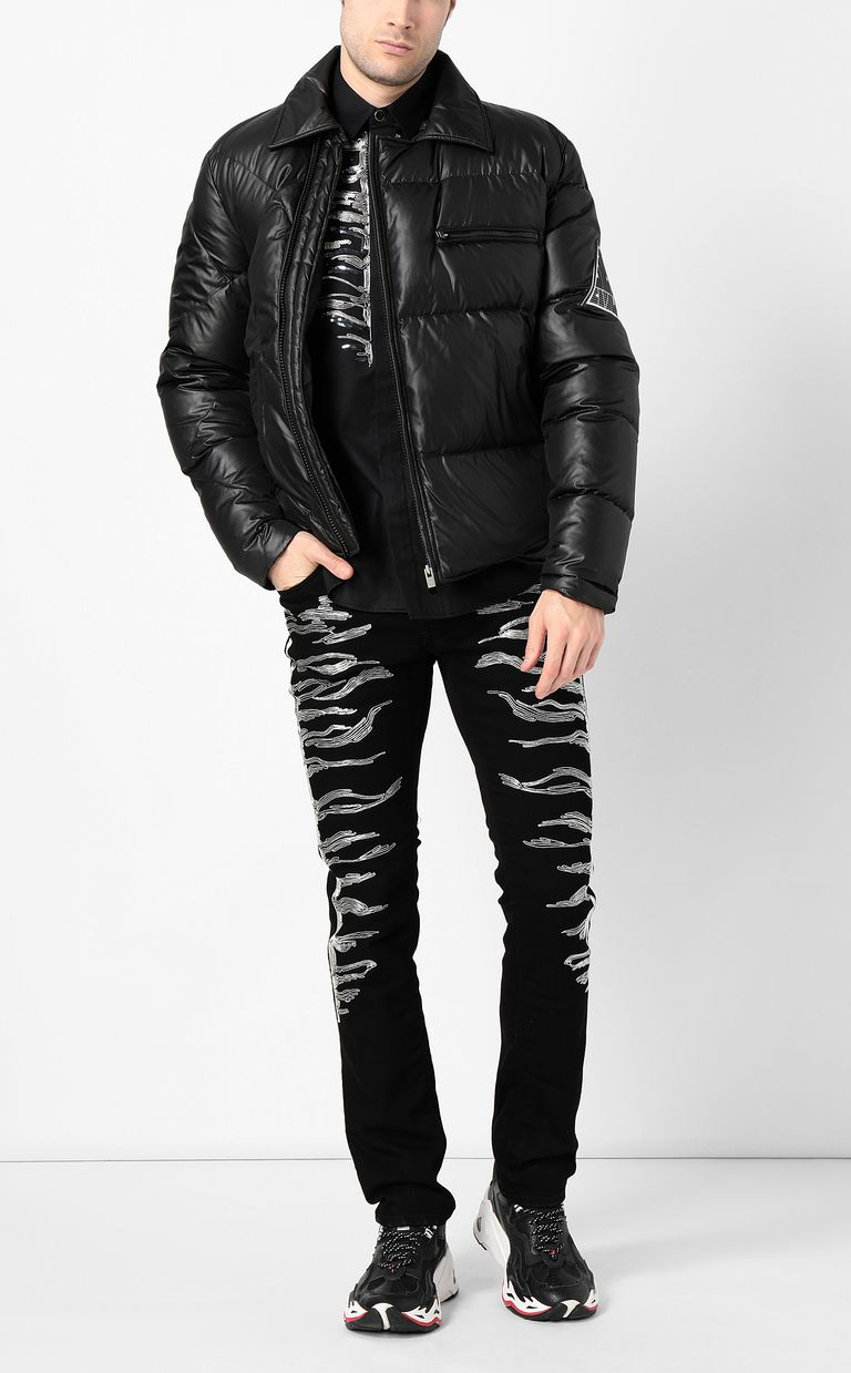 JUST CAVALLI Jacket with side zip closure Down jacket Man d