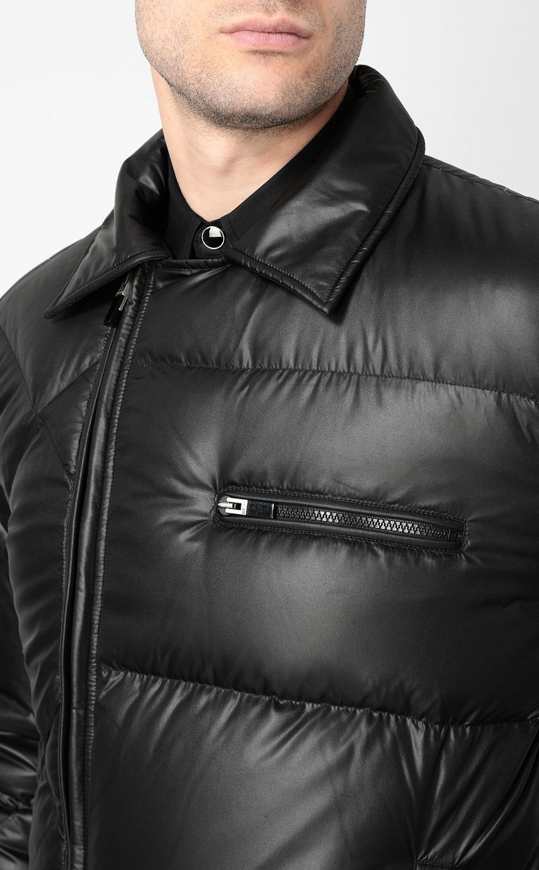 JUST CAVALLI Jacket with side zip closure Down jacket Man e