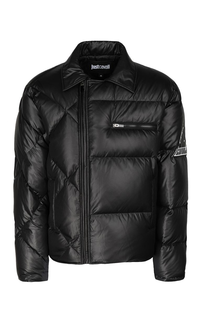 JUST CAVALLI Jacket with side zip closure Down jacket Man f