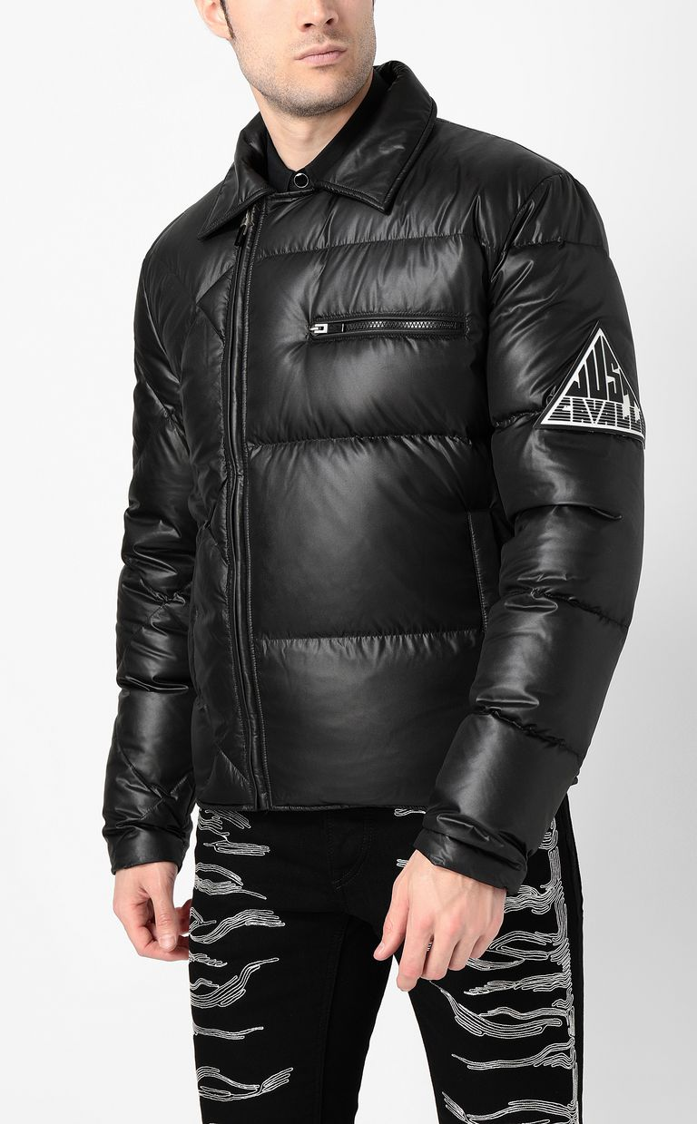 JUST CAVALLI Jacket with side zip closure Down jacket Man r