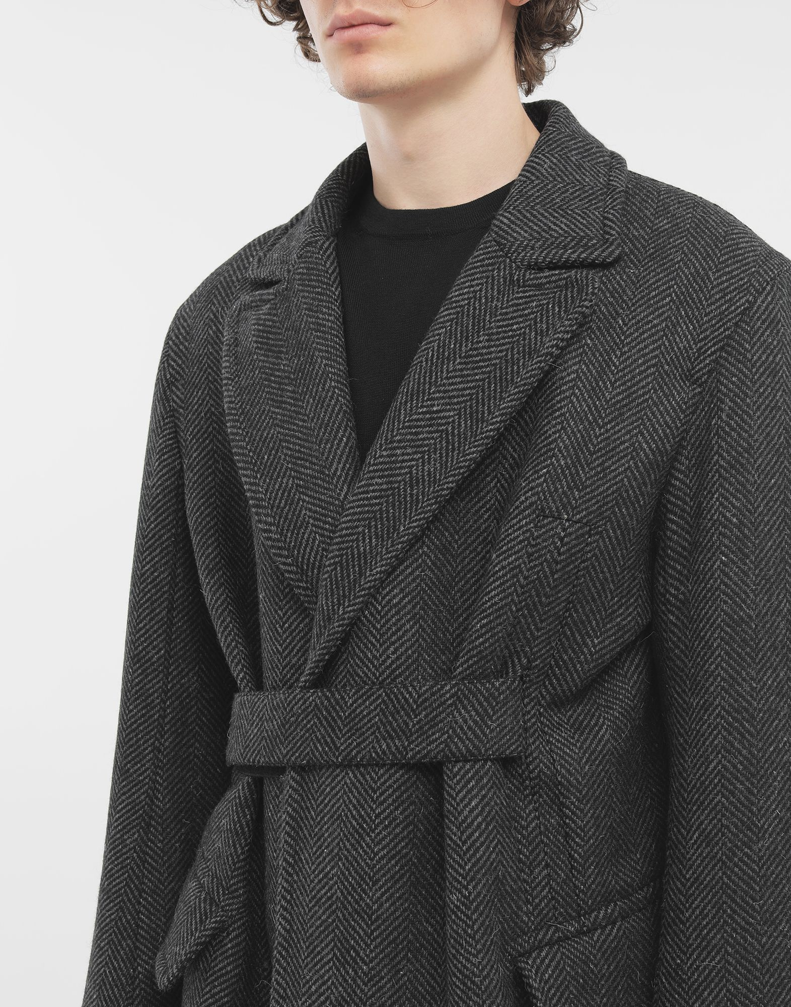 MAISON MARGIELA Scratch fastening herringbone pea coat Light jacket Man a