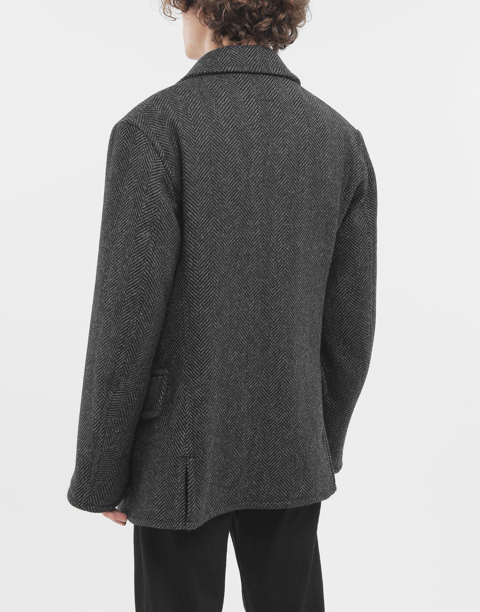 MAISON MARGIELA Scratch fastening herringbone pea coat Light jacket Man e