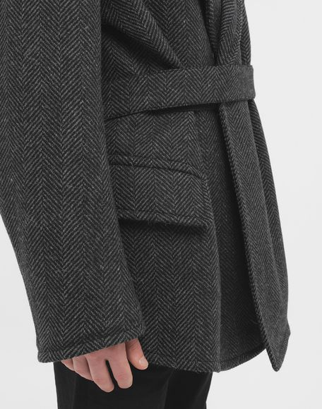 MAISON MARGIELA Scratch fastening herringbone pea coat Light jacket Man b