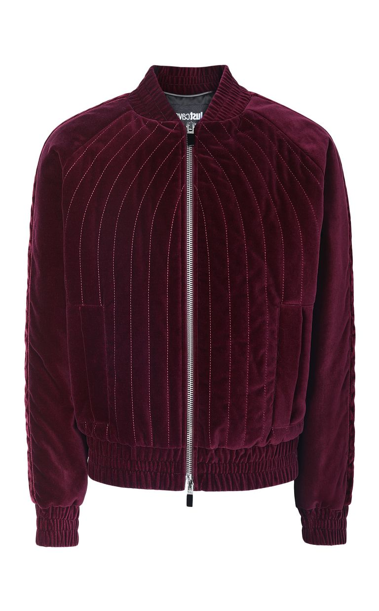 JUST CAVALLI Velours bomber jacket Jacket Man f