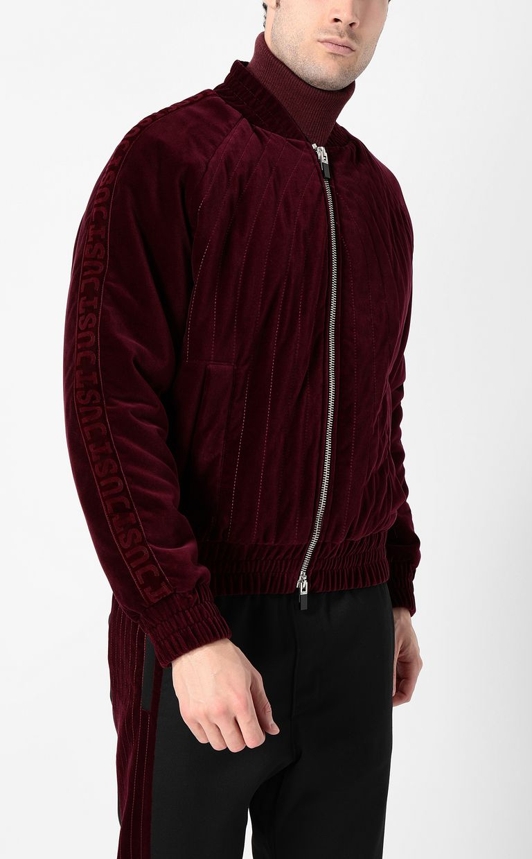 JUST CAVALLI Velours bomber jacket Jacket Man r