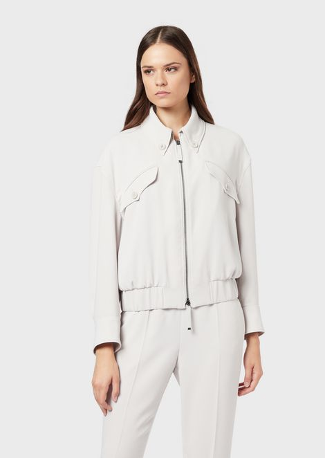 Blouson in envers satin tech fabric