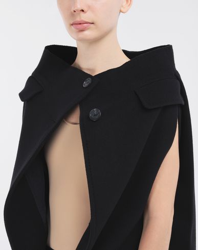 COATS and JACKETS Wool cape Blue
