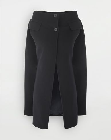 COATS & JACKETS Wool cape Blue