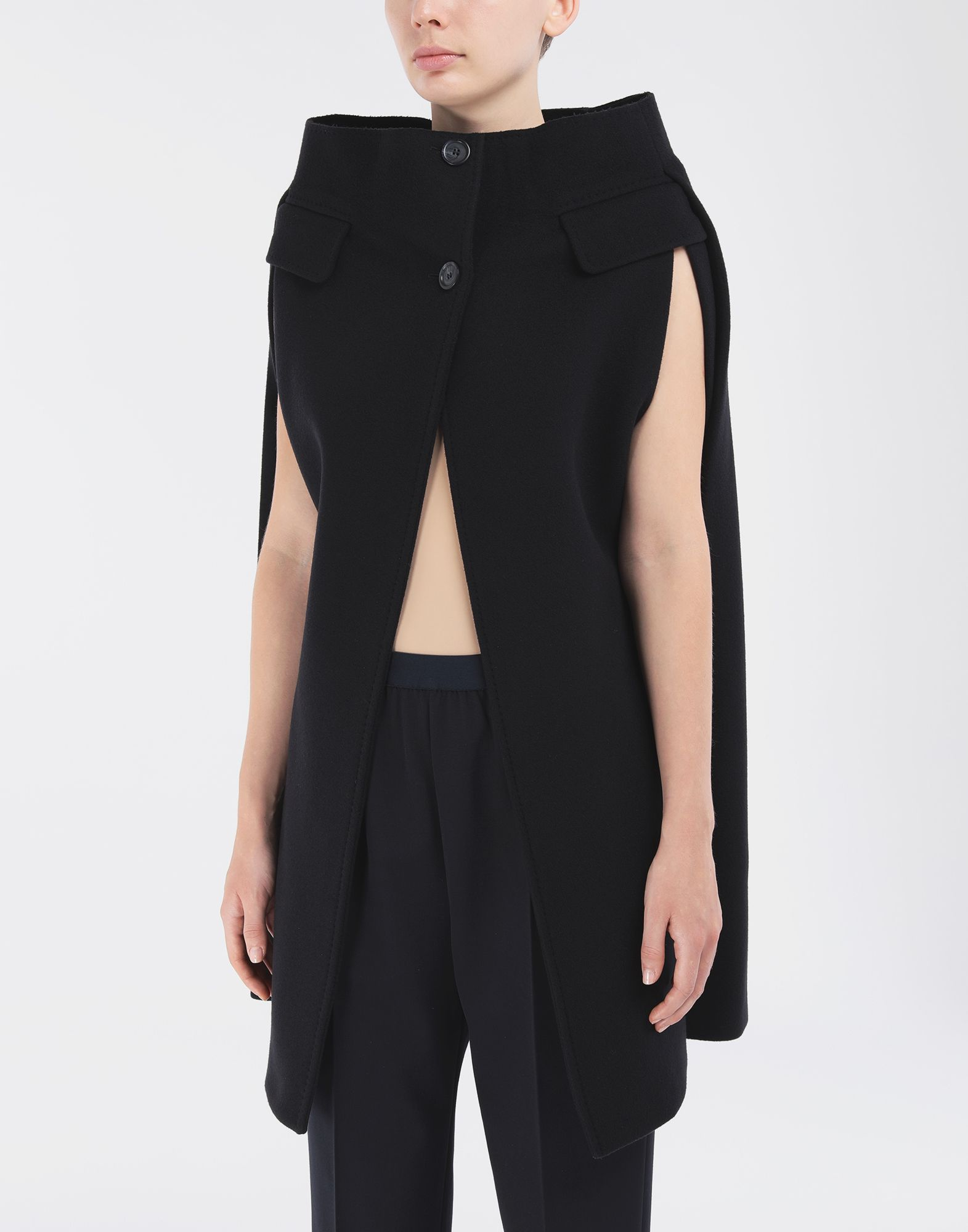 MAISON MARGIELA Wool cape Light jacket Woman r