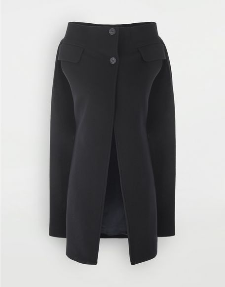 MAISON MARGIELA Wool cape Light jacket Woman f