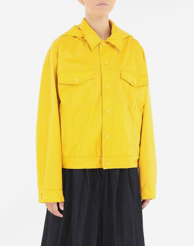 COATS and JACKETS Hooded sports-jacket Yellow