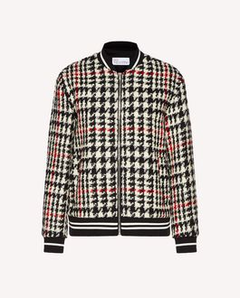 REDValentino Wool hounds tooth bomber jacket
