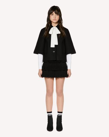 REDValentino Wool Cashmere jacket with bow collar