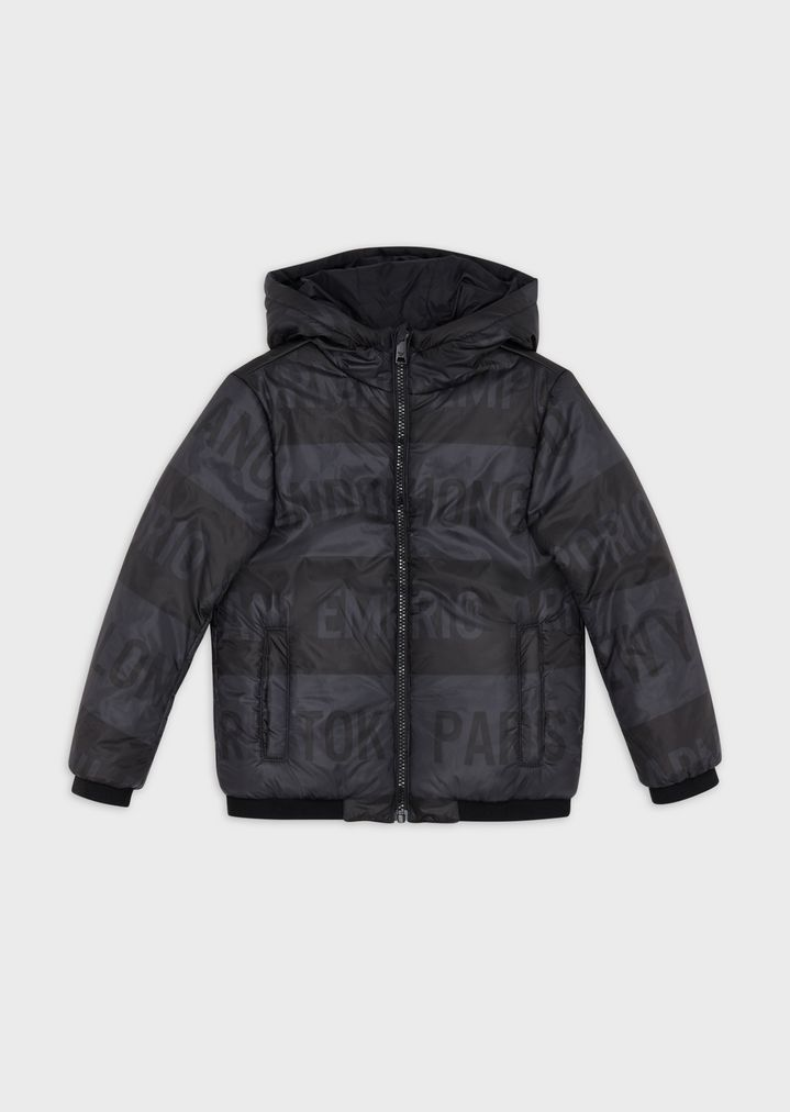 3bed6d9c34 Reversible jacket with hood and zip
