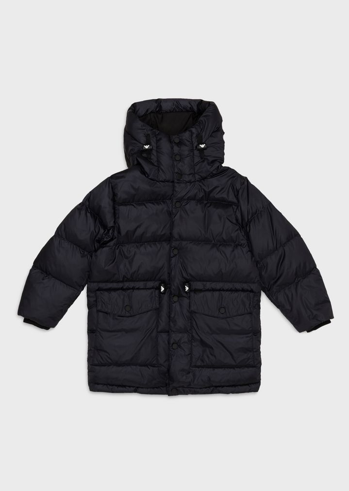 909eefb55899d Quilted jacket with hood and pockets   Man   Emporio Armani