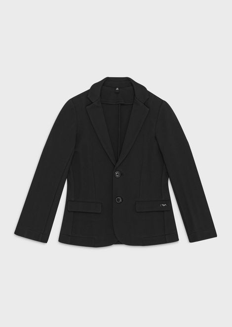 College-style single-breasted jacket