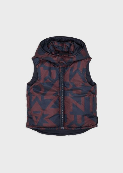 Reversible padded sleeveless jacket