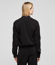 KARL LAGERFELD Snap-Sleeved Bomber Jacket Woman a
