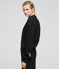 KARL LAGERFELD Snap-Sleeved Bomber Jacket Woman e