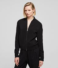 KARL LAGERFELD Jacket Woman Snap-Sleeved Bomber f