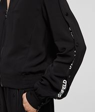 KARL LAGERFELD Snap-Sleeved Bomber Jacket Woman r