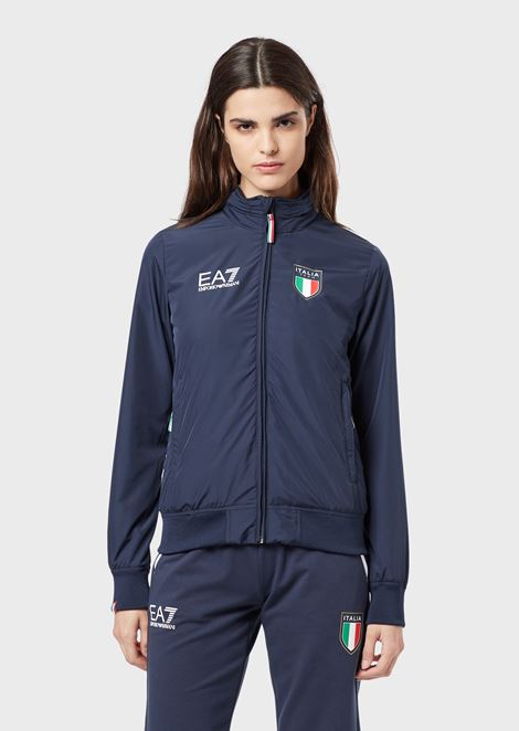 Jacket with Team Italia hood