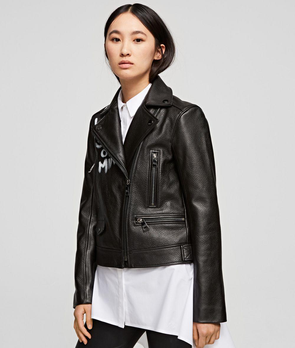 KARL LAGERFELD Karl x Olivia Biker Jacket Jacket Woman f