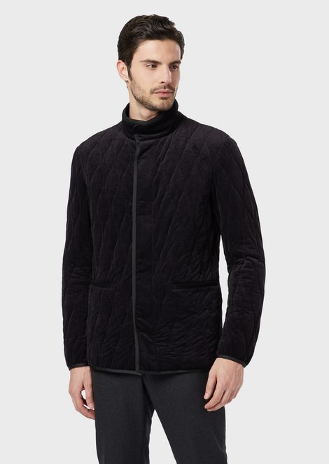 Blouson in quilted jersey with light padding
