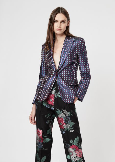 Single-breasted jacket in jacquard