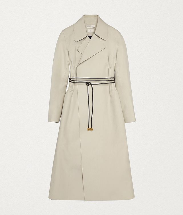 BOTTEGA VENETA COAT IN COTTON Outerwear and Jacket Woman fp