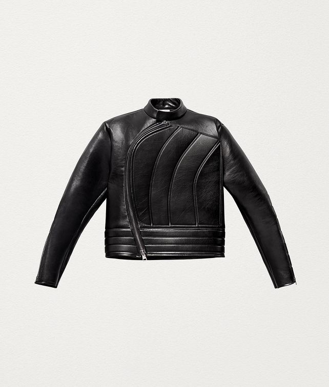BOTTEGA VENETA BIKER JACKET IN POLISHED CALF LEATHER Outerwear and Jacket Man fp