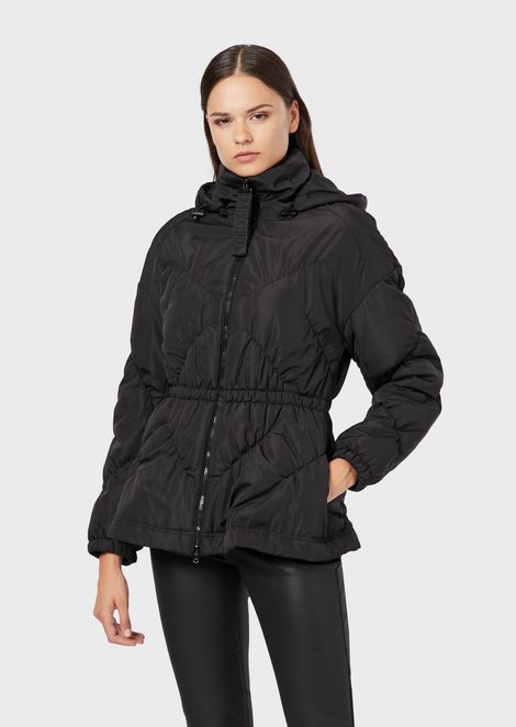 Ultrasonic-quilted nylon jacket