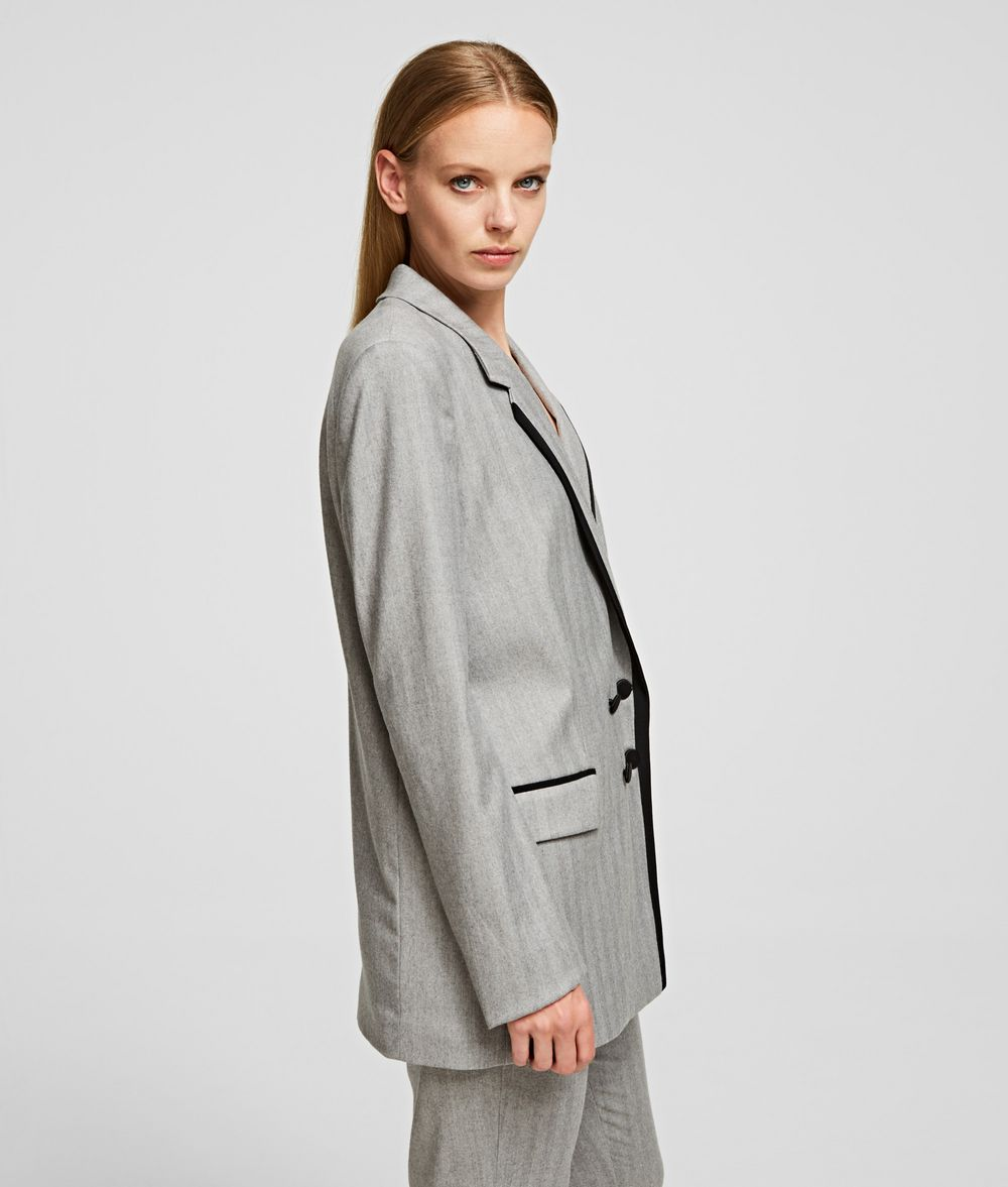 KARL LAGERFELD Tailored Wool Blend Jacket Blazer Woman d