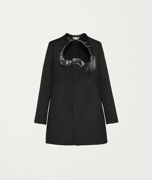 BOTTEGA VENETA COAT IN WOOL BLEND Outerwear and Jacket Woman fp