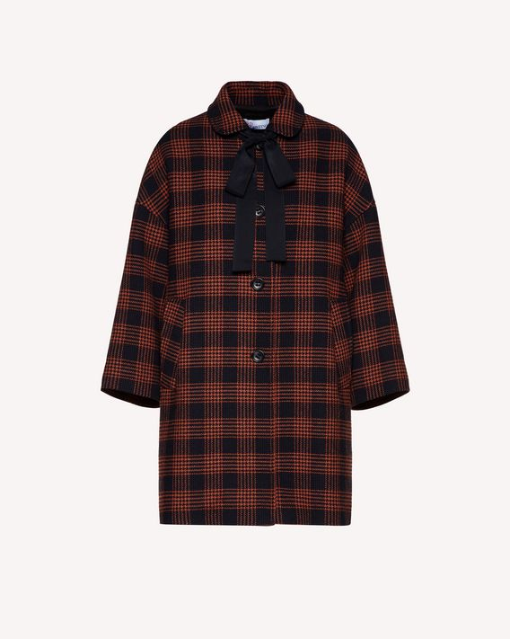 REDValentino Glen Plaid coat